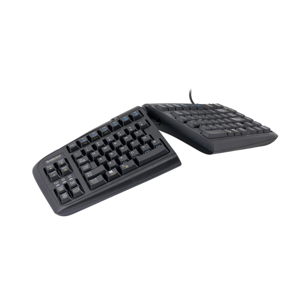 R-Go Tools Goldtouch V2 Adjustable Comfort Keyboard AZERTY, Standard, Wired, USB, AZERTY, Black