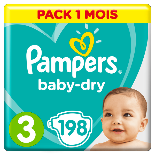 Pampers Active Baby-Dry 81657823, Boy/Girl, Tape diaper, 6 kg, 10 kg, Multicolour, Velcro