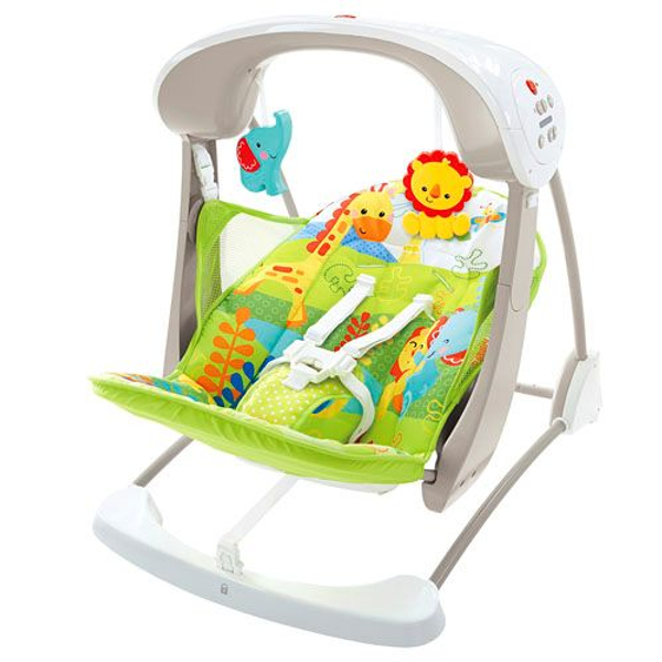 - Fisher-Price Everything Baby CCN92, Foldable, Toy bar, Green,White