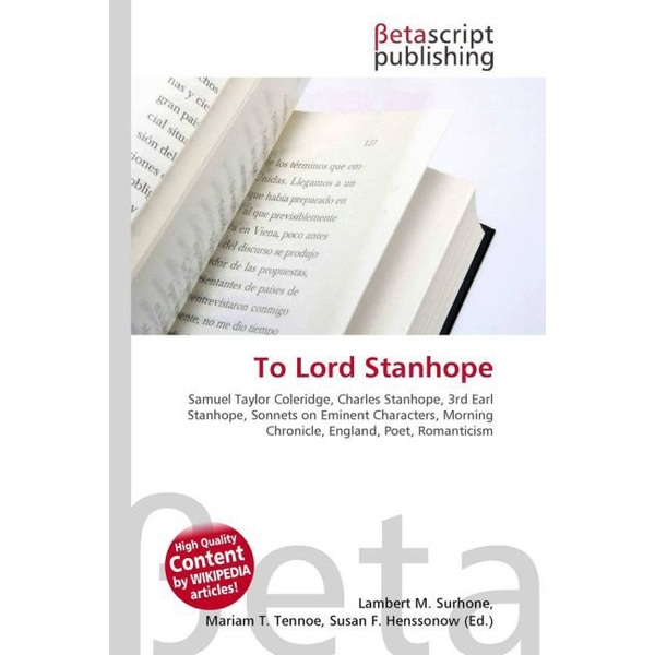 Betascript Publishing - To Lord Stanhope