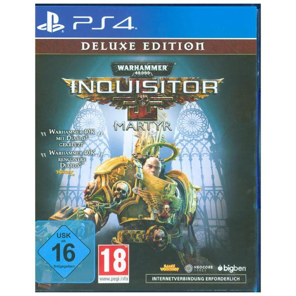 - Warhammer 40.000, Inquisitor Martyr, 1 PS4-Blu-ray Disc (Deluxe Edition) - Für PlayStation 4