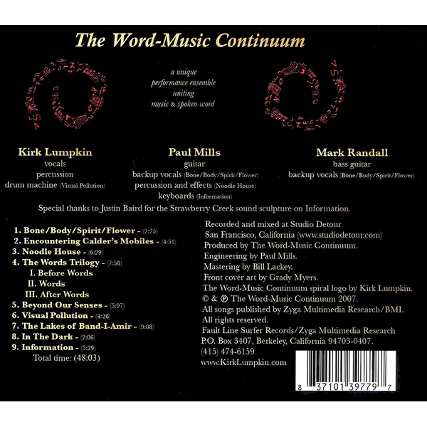 The Word-Music Continuum - Sound Poems