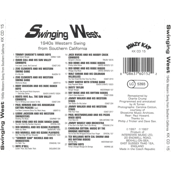 Various Artists - Swinging West: 1940s Western Swing from Southern California