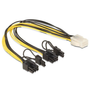 DeLOCK 83433 internal power cable 0.3 m