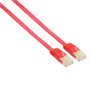 InLine Flat patch cord UTP Cat.6 2m Red networking cable Cat6