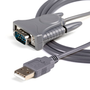 StarTech.com USB to RS232 DB9/DB25 Serial Adapter Cable - M/M