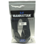 Manhattan HDMI Cable, 1080p@60Hz (High Speed), 10m, Male to Male, Black, Fully Shielded, Gold Plated Contacts, Lifetime Warranty, Polybag