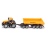Siku JCB Tractor with dolly and tipping trailer