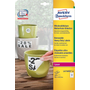 Avery Zweckform L4776REV-20 self-adhesive label Rounded rectangle Permanent White 240 pc(s)