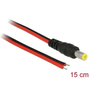 DeLOCK 85745 power cable Black, Red 0.15 m