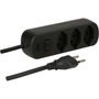 Max Hauri AG 160242 power extension 1.5 m 3 AC outlet(s) Indoor Black