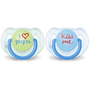 Philips AVENT SCF172/71 baby pacifier Classic baby pacifier Orthodontic Silicone Blue, Transparent, Yellow