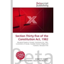 Section Thirty-five of the Constitution Act, 1982