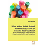 What Makes Public School Teachers Stay, Leave or become Non-teachers? - An In-depth Analysis of their Personal  Characteristics, Beliefs and Perceptions