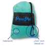 PuruPoi Super-Lightweight XXL Picnic Blanket + Cushion Combo Set with Triple Effect: Waterproof, Tear-Resistant, Compact for Hiking, Outdoors, Countryside, Beach, Travelling - Pocket Blanket 2019, 180x140 cm, light blue