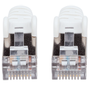 Intellinet Network Patch Cable, Cat6, 1m, White, Copper, S/FTP, LSOH / LSZH, PVC, RJ45, Gold Plated Contacts, Snagless, Booted, Polybag