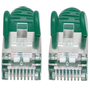 Intellinet Network Patch Cable, Cat6A, 0.5m, Green, Copper, S/FTP, LSOH / LSZH, PVC, RJ45, Gold Plated Contacts, Snagless, Booted, Lifetime Warranty, Polybag