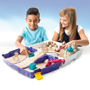 Kinetic Sand , Folding Sand Box with 2lbs of and Mold and Tools