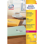 Avery L7560-25 self-adhesive label Rounded rectangle Permanent Transparent 525 pc(s)