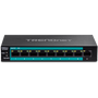Trendnet TE-FP091 network switch Unmanaged Fast Ethernet (10/100) Power over Ethernet (PoE) Black