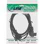 InLine power cable, Euro male / Euro8 male angled, black, 10m