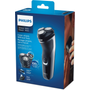 Philips 1000 series PowerCut Blades Dry electric shaver, Series 1000, Rotation shaver, Black, Charging, AC/Battery, Nickel-Metal Hydride (NiMH), Built-in battery