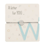 Armband mit Buchstaben - W - A letter for you ...