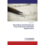 Boundary functionals for Levy processes and their applications